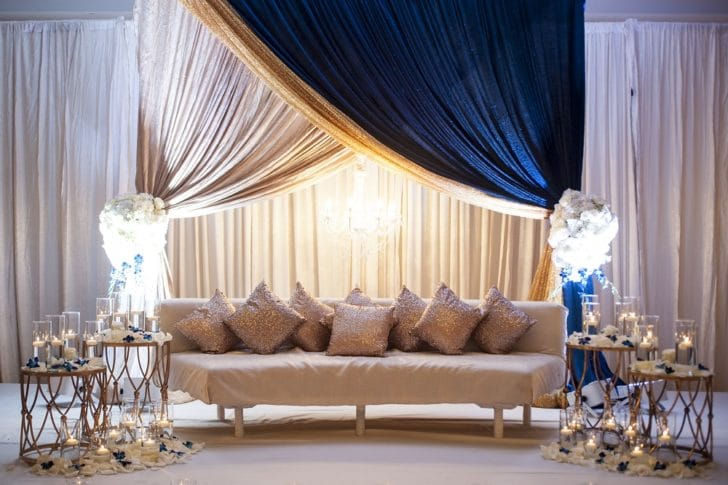 pip and drape backdrops - transform your home into a wedding venue