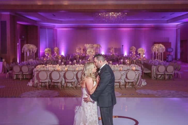 uplighting - transform your home into a wedding venue