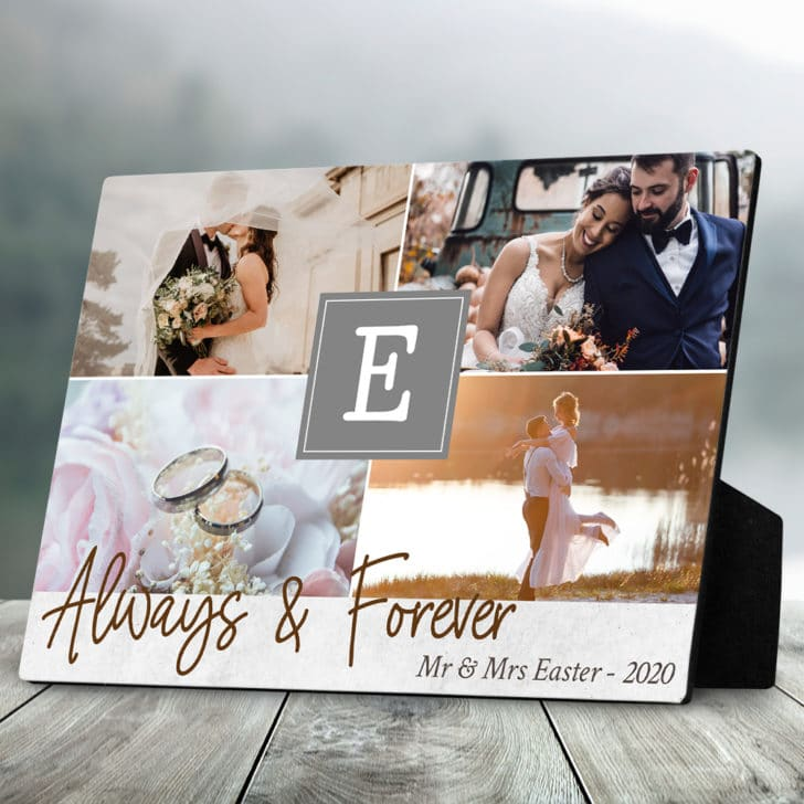 customized photo plaque - personalized wedding gifts couples will love