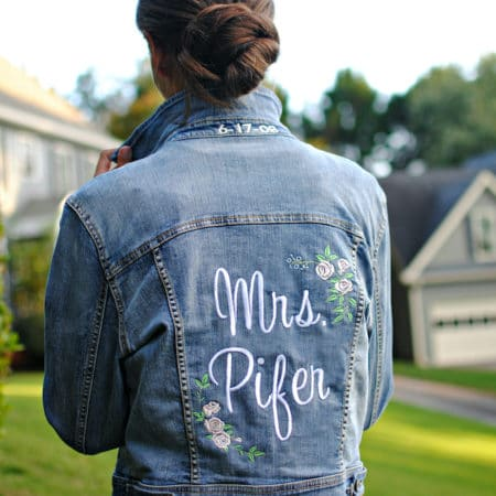 DIY Personalized Embroidered Bridal Denim Jacket