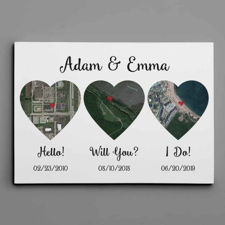 customized map art - personalized wedding gifts couples will love
