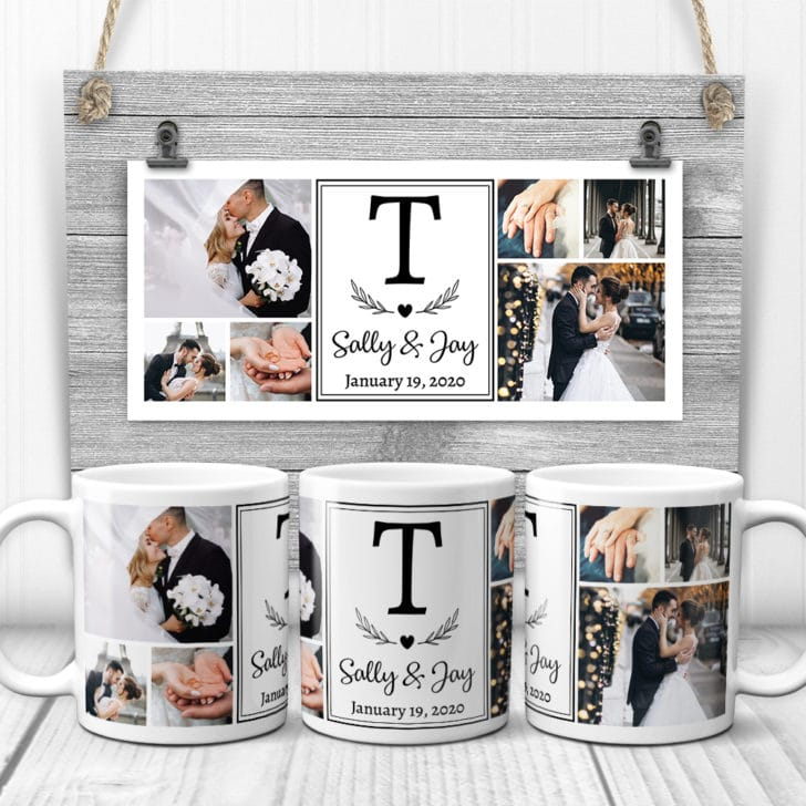 customized photo mugs - personalized wedding gifts couples will love