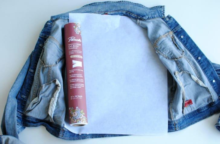 Step 3 - DIY Bridal Jean Jacket
