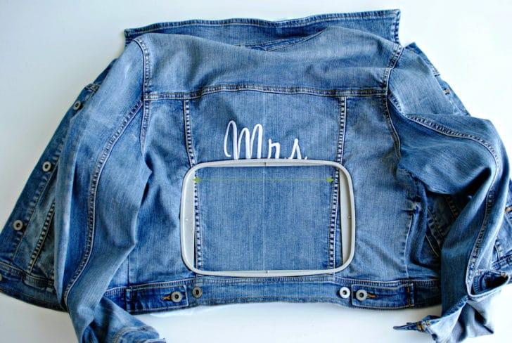 Step 6: DIY Bridal Denim Jacket Personalization