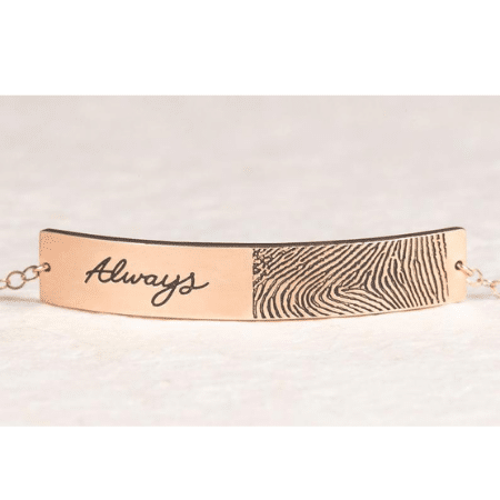 Wedding Gifts for spouse on your big day-Actual Fingerprint & Handwriting Bracelet