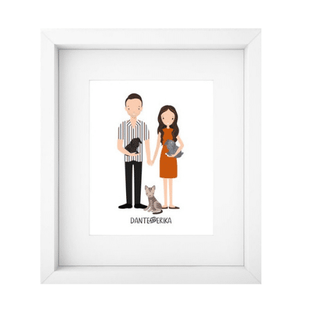 Wedding Gifts for spouse on your big day-Custom Couple Portrait