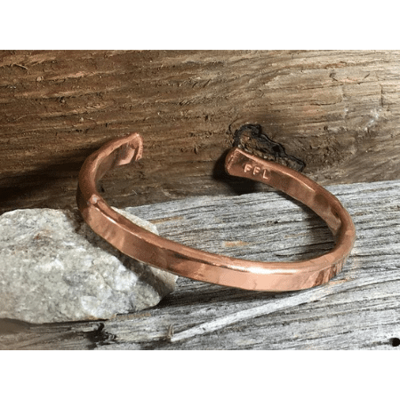 Day-of Wedding Morning Gifts - Lightly Hammered Copper Bracelet
