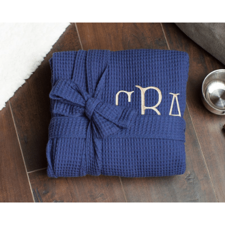 Day-of Wedding Morning Gifts - Personalized Men's Waffle Robe