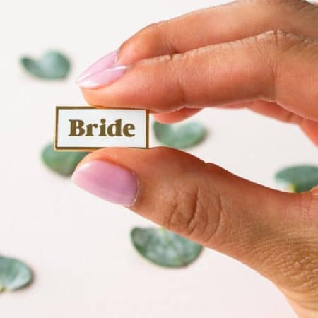 everday olive bride enamel pin