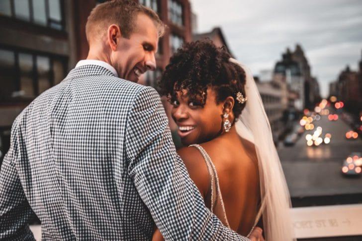 bride and groom - wedding glow - new york wedding