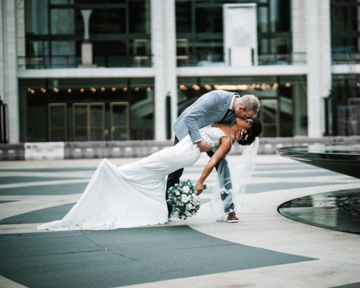bride and groom  - lincoln center - weddings in new york