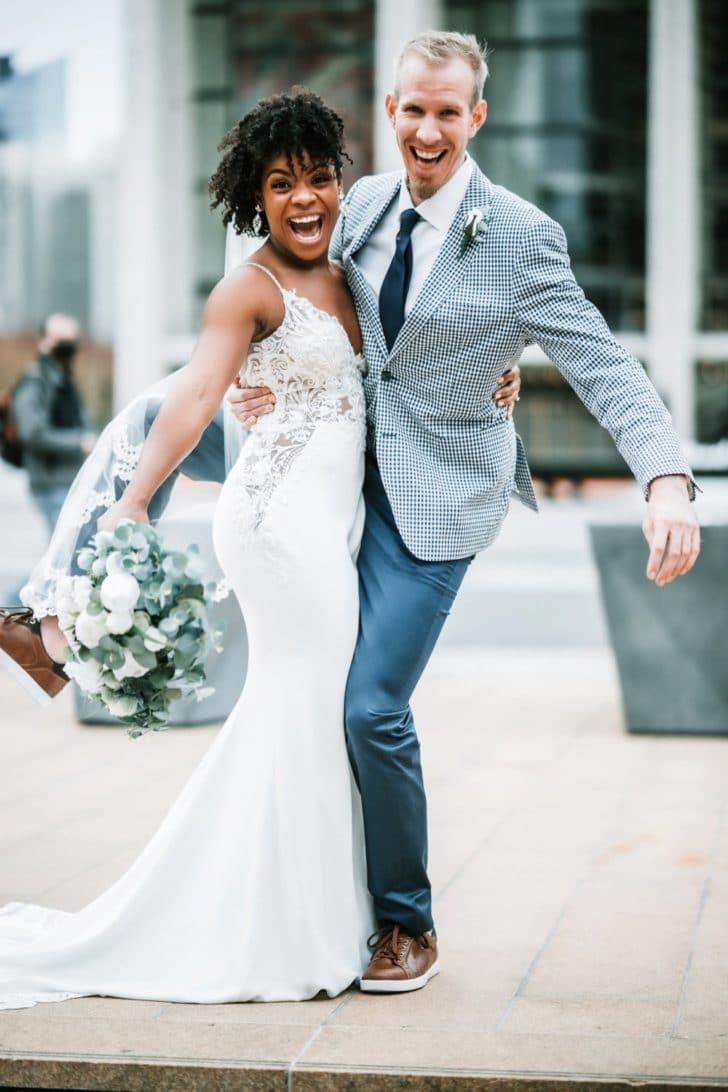 something borrowed blooms - fun bride and groom - NY bride and groom