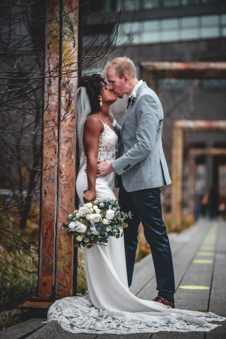 NYC highline - corona bride