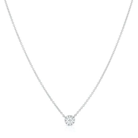Diamond Cluster Pendant Necklace