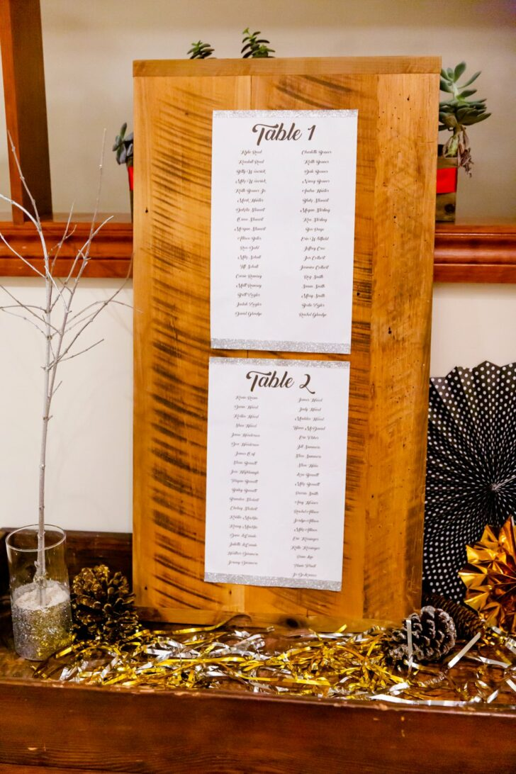 seating chart - wedding decor