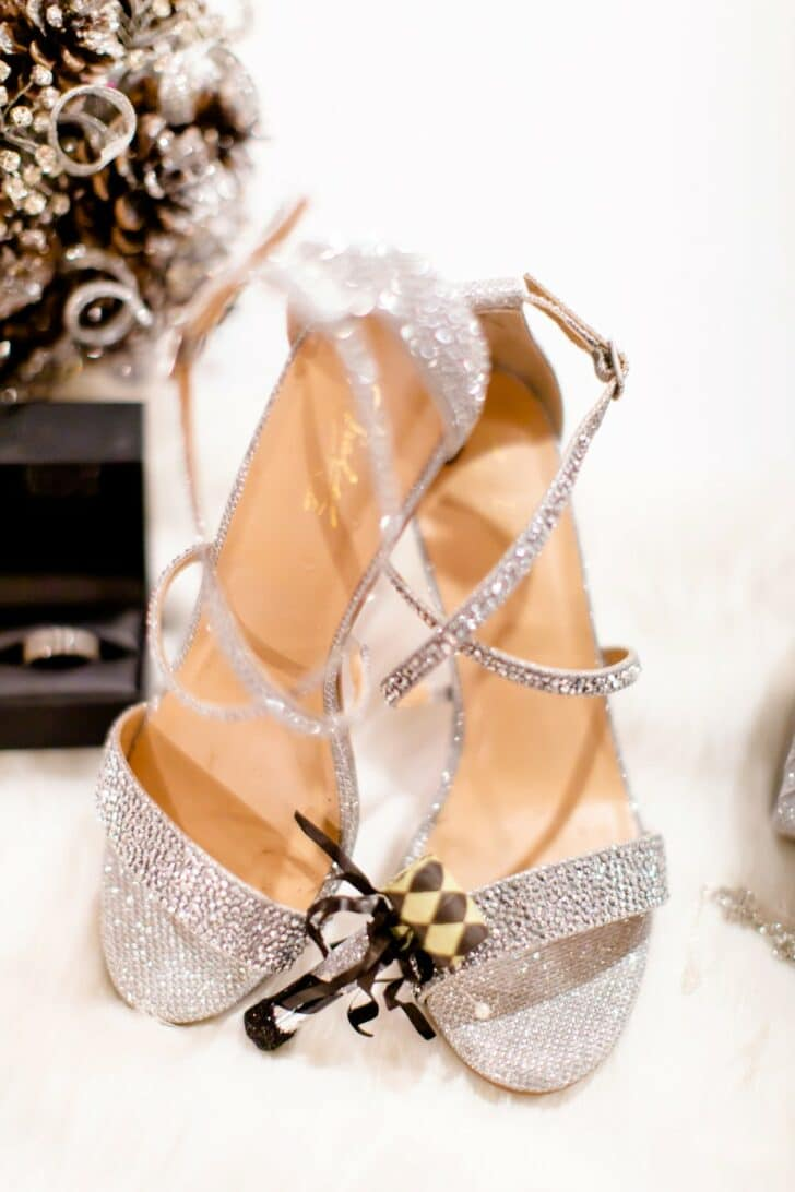 silver sparkle wedding shoes - new years eve wedding