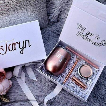 Rose Gold Bridesmaid Proposal Gift Box