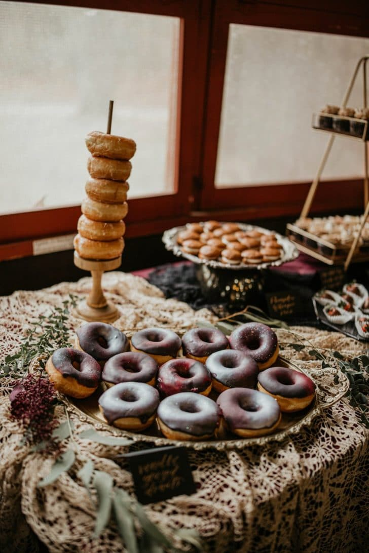 donuts - wedding dessert table