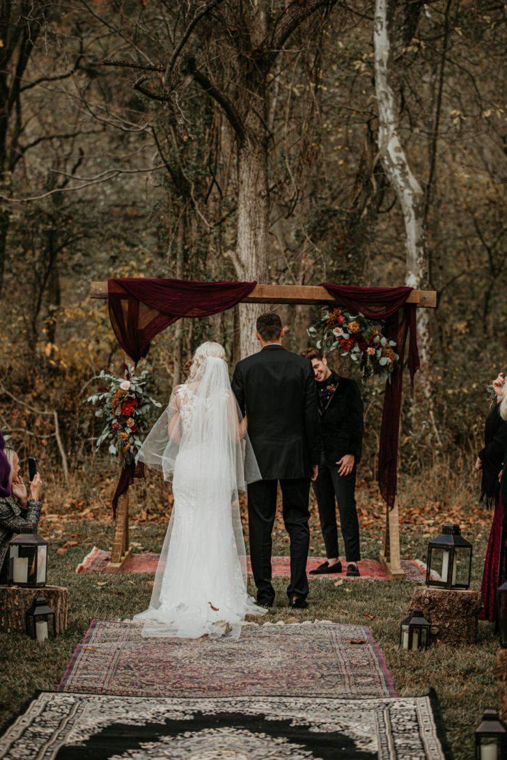 ceremony setup - wedding arch