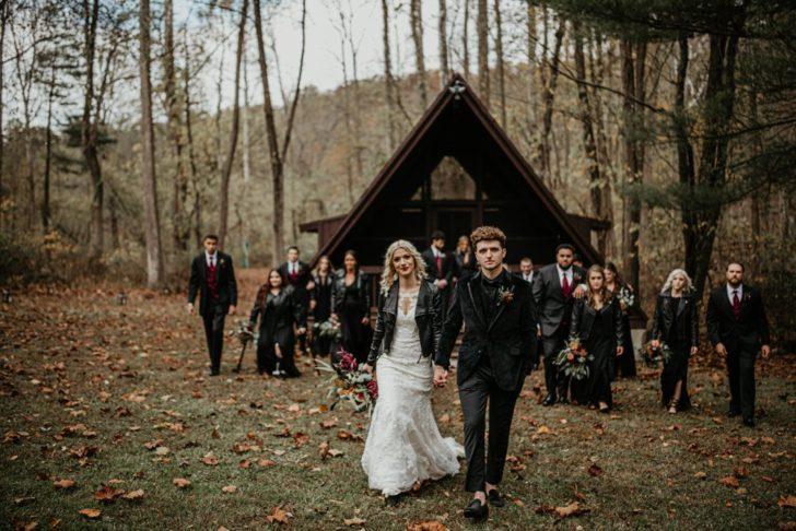 bridal party - fall wedding