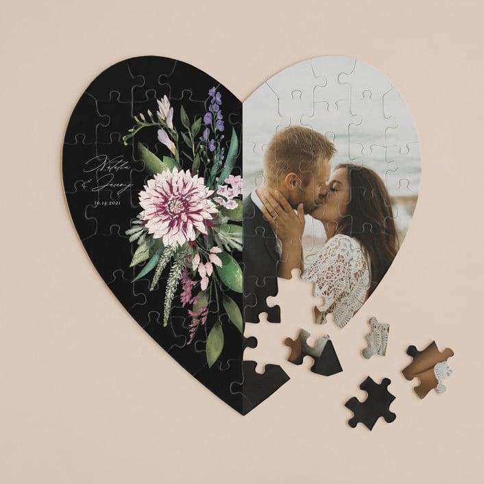bold bouquet love puzzle minted