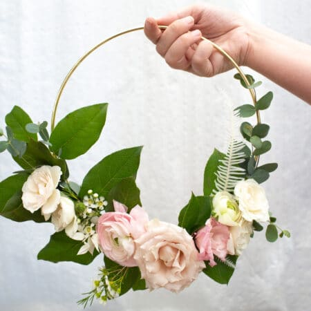 diy floral hoops for weddings