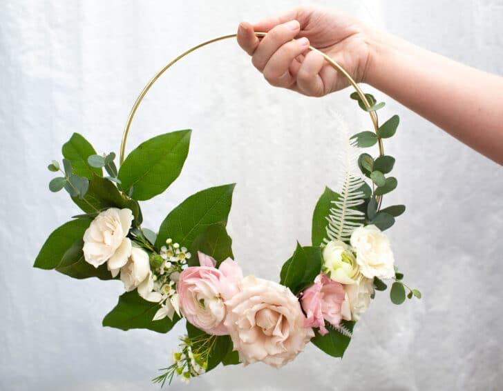 diy floral hoops for weddings
