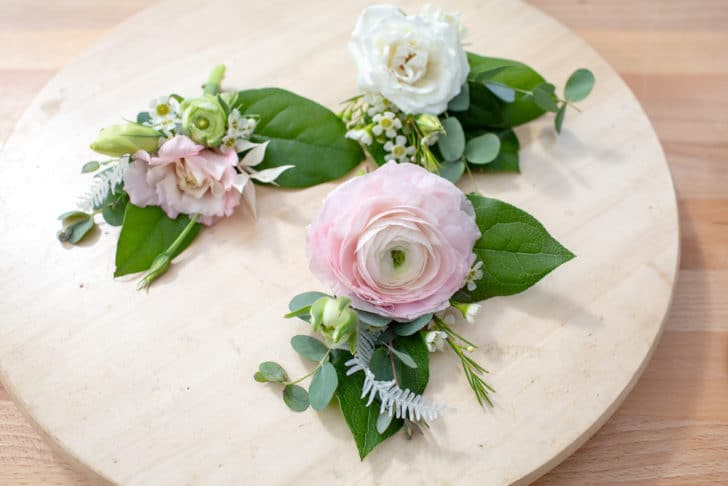 DIY Wedding boutonnieres - tutorial from Bloom Culture Flowers
