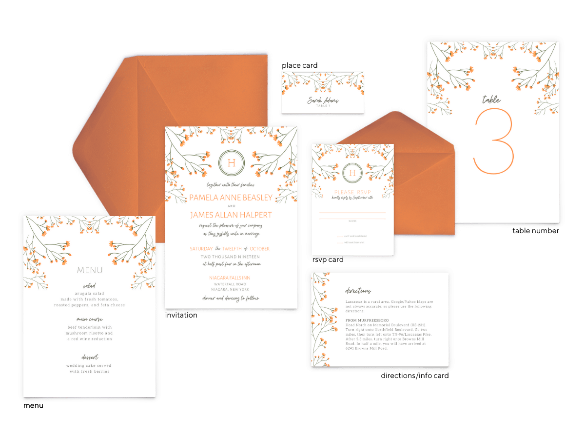 Bryce Suite - Free Wedding Invitation Printables from The Budget Savvy Bride