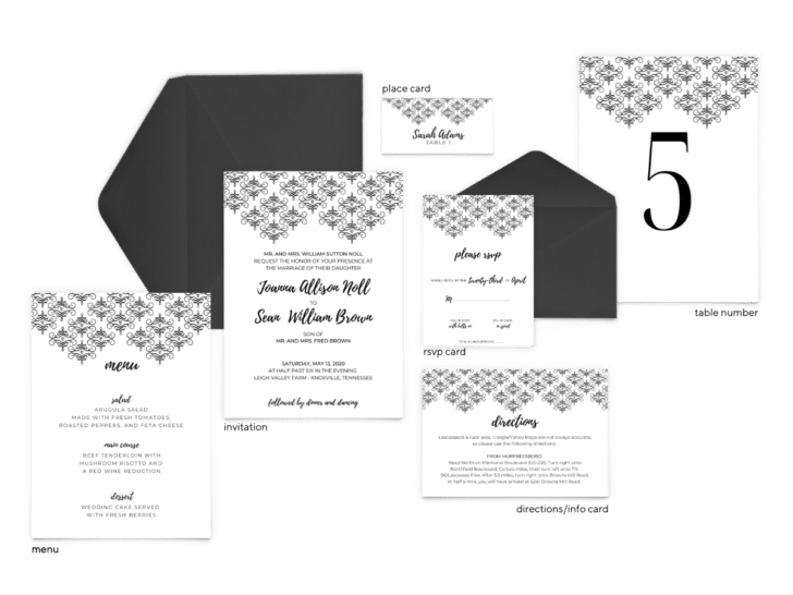 Julie Suite - Free Wedding Invitation Printables from The Budget Savvy Bride