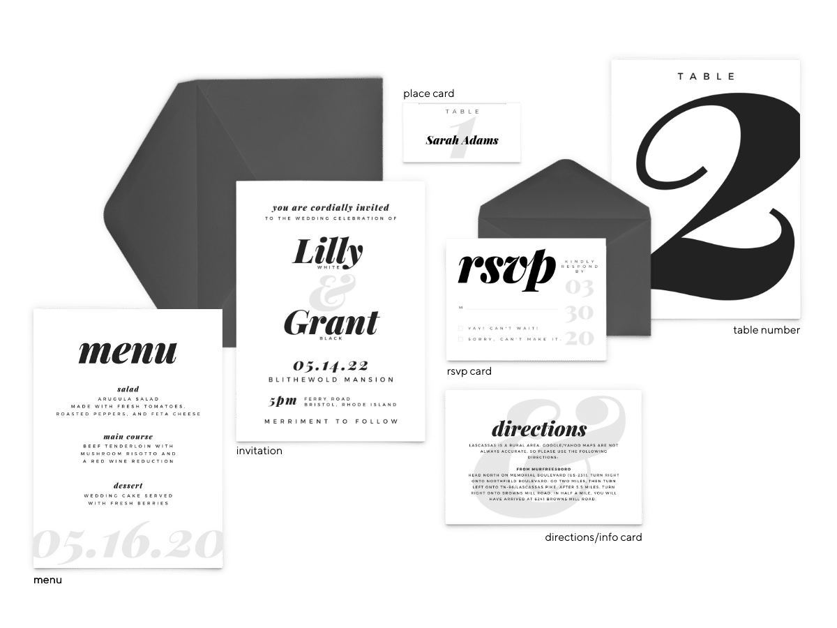 Lily Suite - Free Wedding Invitation Printables from The Budget Savvy Bride