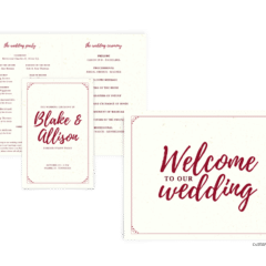 Mallory Suite - Free Wedding Invitation Printables from The Budget Savvy Bride