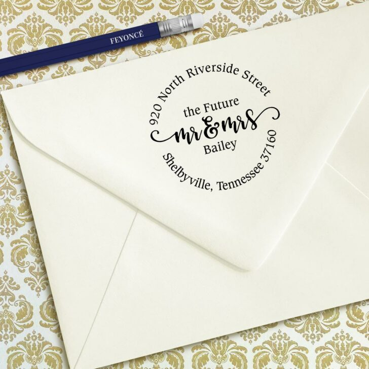 custom wedding stamps from etsy 904tietheknot