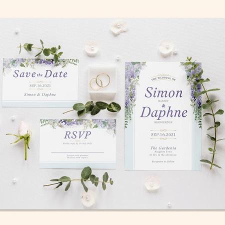 Bridgerton Inspired Wedding Invitation Suite Download