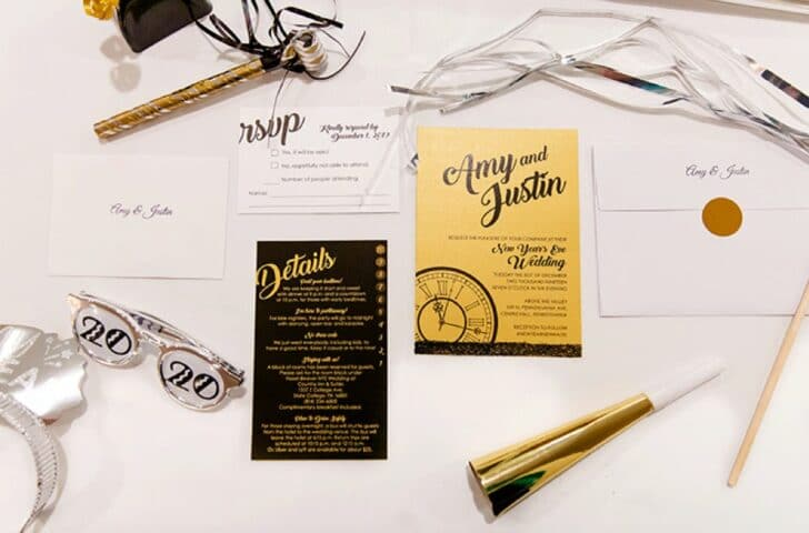 wedding invitations - new years eve wedding