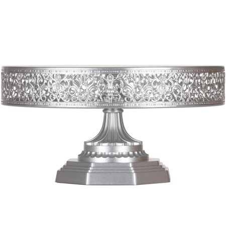 Hand-Crafted Ornate Steel Cake Stand