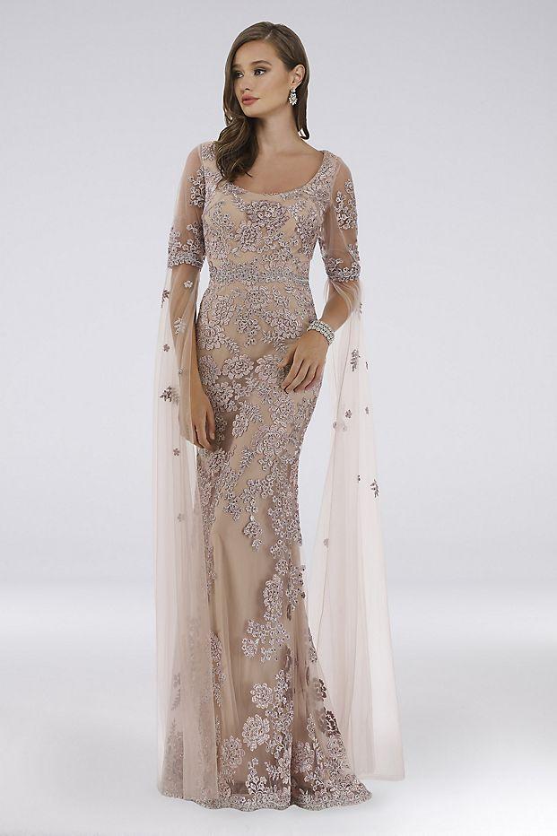 Bridgerton Inspired Mother of the Bride Looks  Lara Dorit Floral Lace Sheath Dress from David's Bridal