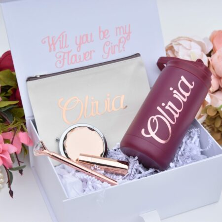 Personalized Flower Girl Proposal Box with Optional Gifts