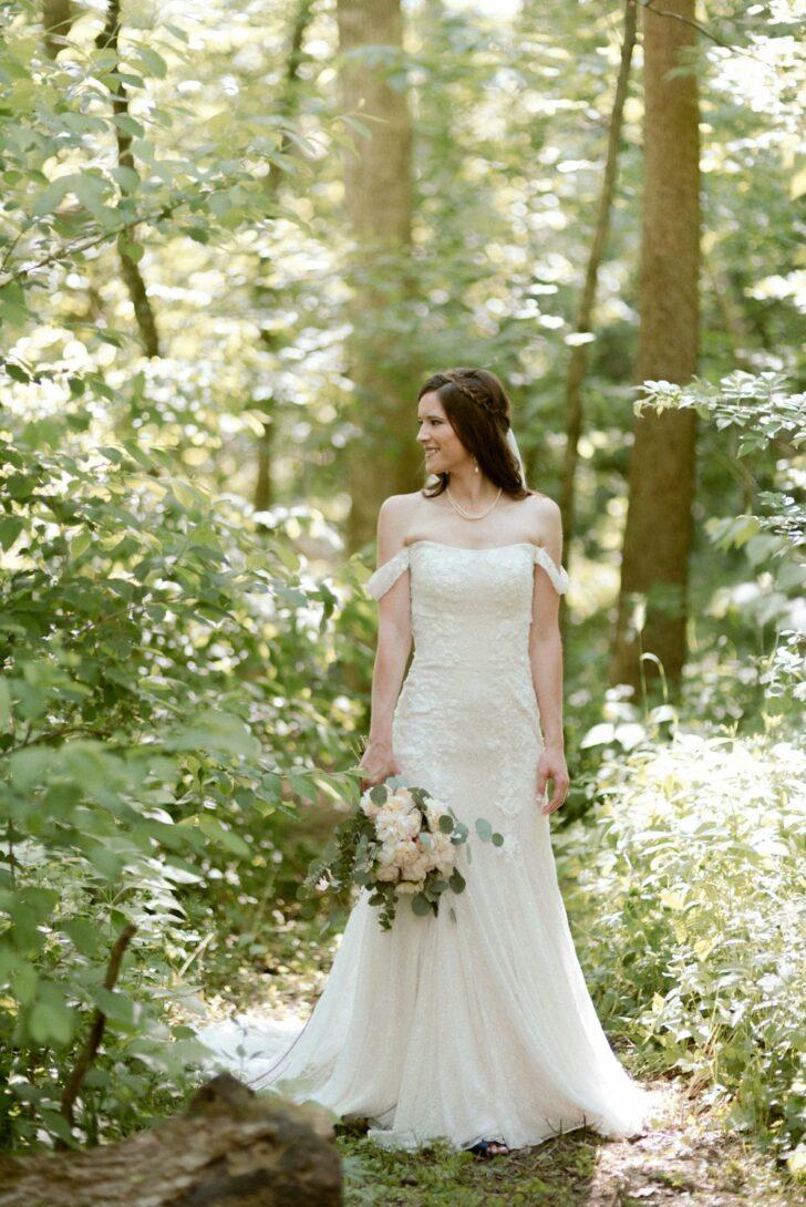 romantic fairytale wedding - outdoor wedding - wedding in the woods