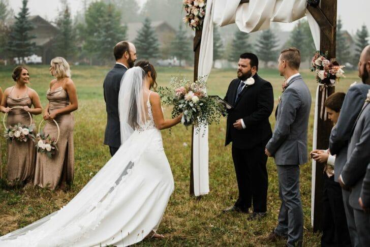 outdoor wedding - DIY wedding arch