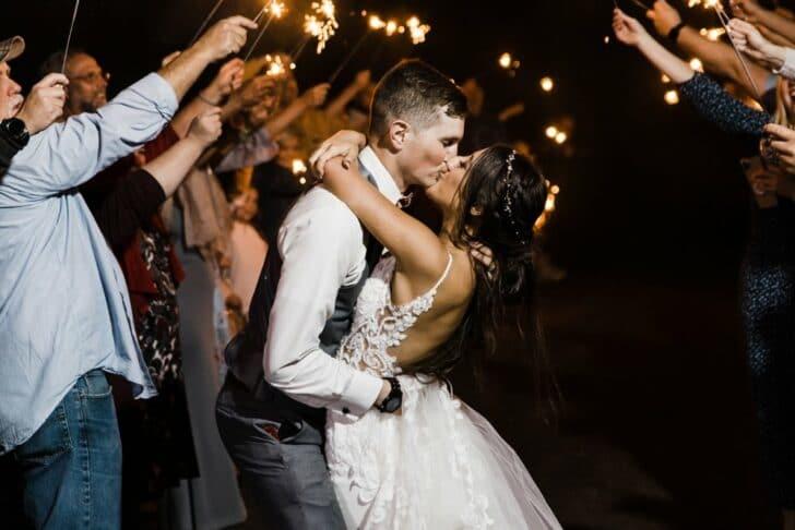 wedding send off - sparkler exit