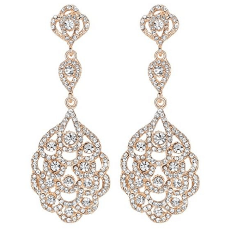 Teardrop Crystal Rhinestone Earrings