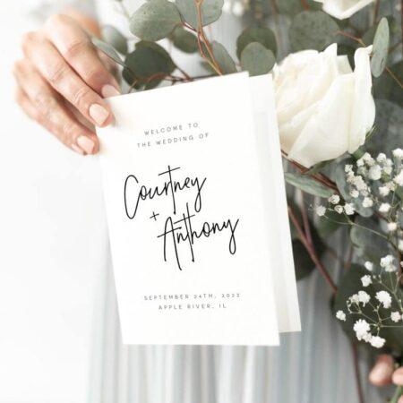 Wedding Program Instant Download