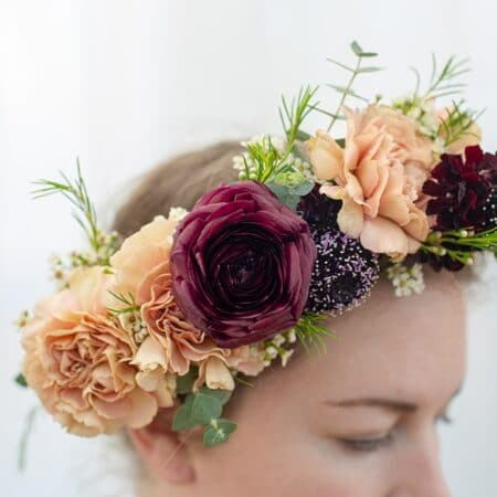 DIY Wedding Flower Crowns from Bloom Culture Flowers