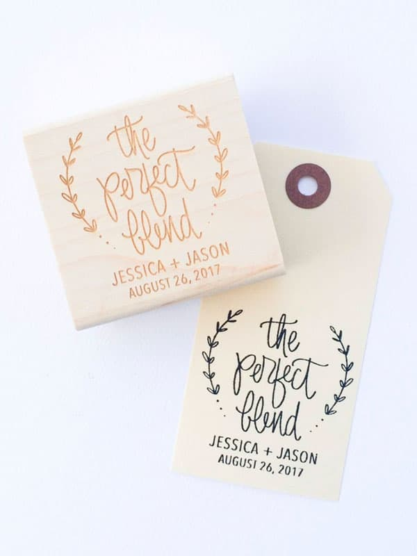 wedding favor stamp via papersushi