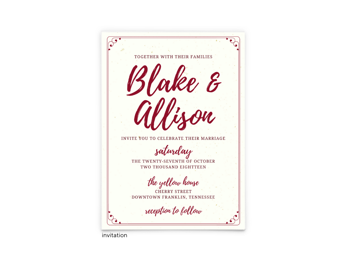 Mallory Wedding Invitation - Free Printable Wedding Invitations - Edit with Canva!