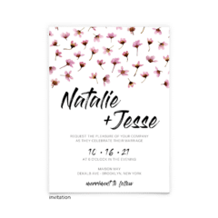 Natalie Wedding Invitation - Free Printable Wedding Invitations - Edit with Canva!