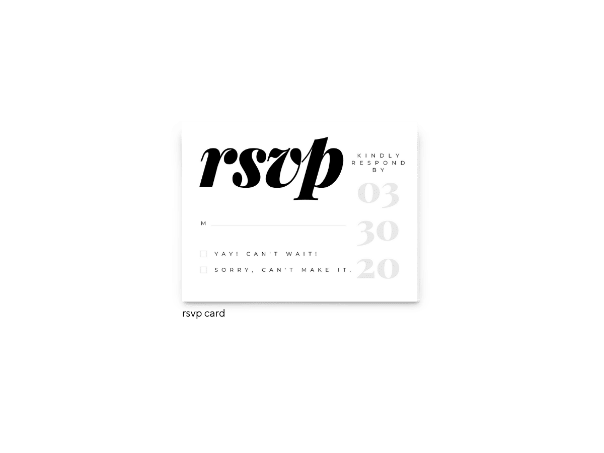 Lily Wedding RSVP Card - Free Printable Wedding Invitations - Edit with Canva!