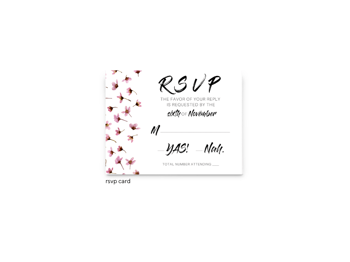 Natalie RSVP Card - Free Printable Wedding Invitations - Edit with Canva!