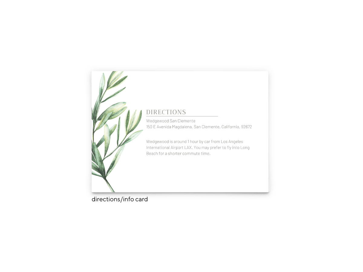 Chelsea Wedding Enclosure Card - Free Printable Wedding Invitations - Edit with Canva!
